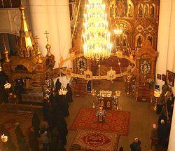 В храме Серафимо-Дивеевского монастыря