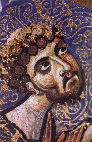 Мстиславово Евангелие (ГИМ. Син. 1203). Евангелист Лука. Фрагмент