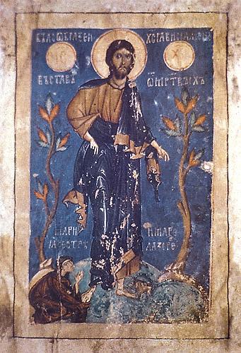 Хлудовская Псалтирь (ГИМ. Хлуд. 3). Явление Христа женам-мироносицам