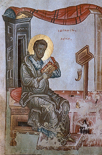 Хлудовское Евангелие (ГИМ. Хлуд. 30). Евангелист Лука
