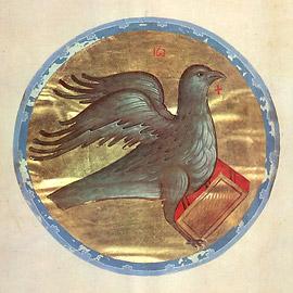 Евангелие Хитрово (РГБ. Ф. 304. III. №3/М.8657). Символ евангелиста Иоанна
