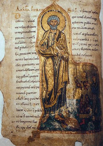 Молитвенник Гертруды (Чивидале, Италия. Cod. CXXXVI). Апостол Петр