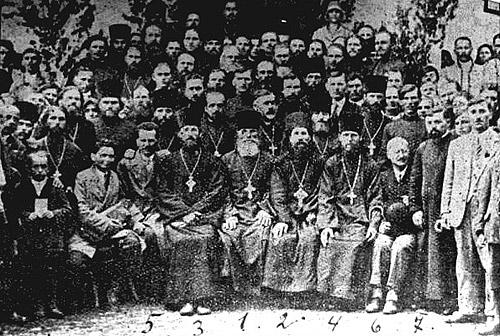 Участники памятных мероприятий, посвященных 10-й годовщине Второго Мараморош-Сиготского процесса. 1924 г.