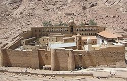 Загрузить увеличенное изображение. 500 x 375 px. Размер файла 84016 b.  Монастырь св. мц. Екатерины в Египте