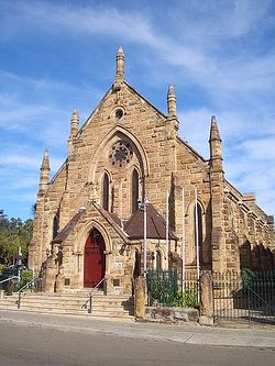 The heritage listed St Nectarios Greek Orthodox Church in Burwood, Sydney was formerly a Methodist Church