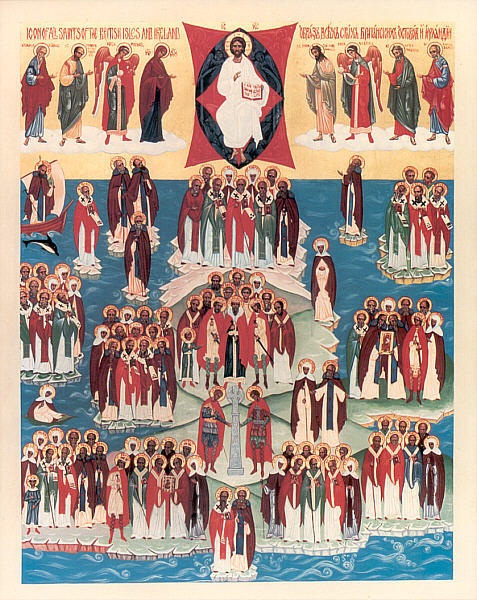 Icon of the Synaxis of the Saints of Britain and Ireland.