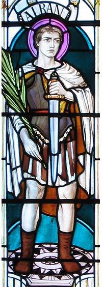 Святой мученик Албан (витраж)