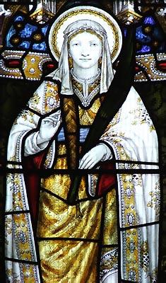 Святая мученица Тидфил Уэльская (витраж)