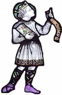 Святой мученик- отрок Кенелм (витраж)