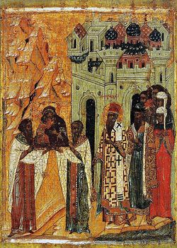Икона Сретения Владимирской Божией Матери. XVII в.