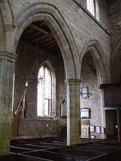 Интерьер церкви св. Марии и св. Хардульфа в Бридоне-Он-Де-Хилл