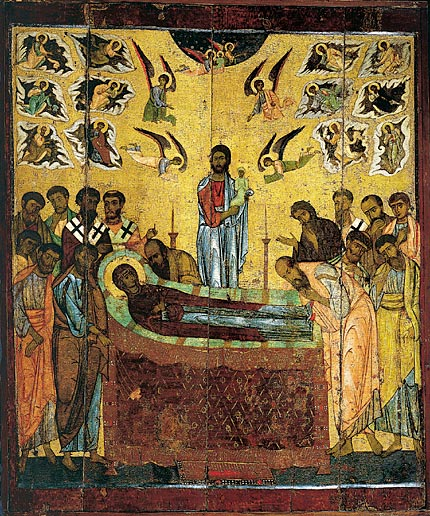 The Dormition of the Holy Theotokos. Beginning of the XIII century., Novgorod. The State Tretyakov Gallery, Moscow