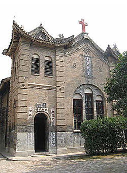 Church built by missionaries in a Chinese style