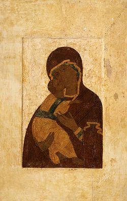 Владимирская икона Божией Матери. Список 1514 г. из московского Сретенского монастыря