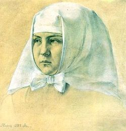 Павел Корин. Портрет П.Т. Петровой. 1922