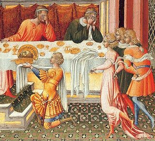 Пир Ирода. Джованни Пауло, 1453г.