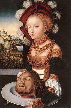 """""""Саломея"""" Лукас Кранах, 1530г."""