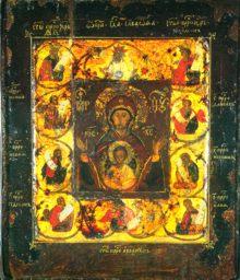 Цветная литография подлиной иконы «Знамение»