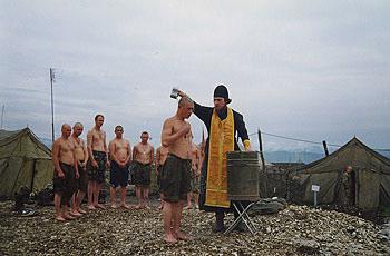 Крещение десантников в Чечне