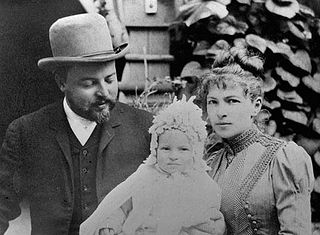 Федор Осипович Шехтель с семьёй