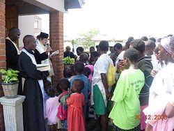 Крещение в приходе святого Нектария