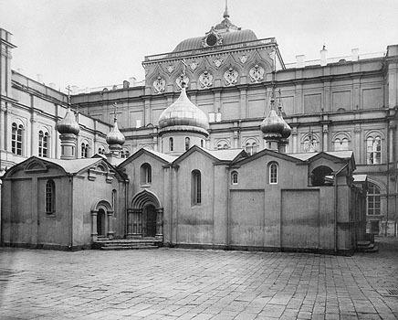 Храм Спаса на Бору. Фотография из альбома Н.А. Найденова. 1880-е годы