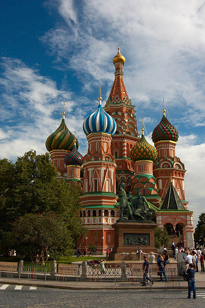 The famous St. Basil's Cathedral, orgininally dedicated to the Protection of the Mother of God.