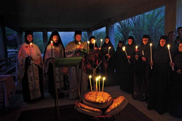 Престольный праздник в монастыре святого Георгия Победоносца «Караискаки». Освящение хлебов на Великой Вечерне