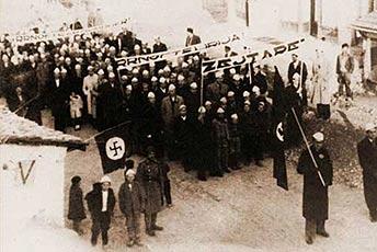 Албанская демонстрация в Косово