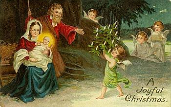 Рождественская поздравительная открытка начала XX века