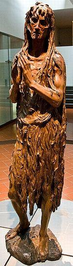 Деревянная статуя Марии Магдалины работы Донателло