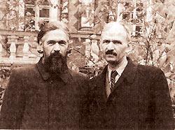 Протоиерей Николай Голубцов (слева) с братом Алексеем