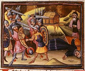 Филистимляне убивают нечестивых сыновей Илия и захватывают Ковчег Завета