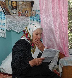 Загрузить увеличенное изображение. 800 x 532 px. Размер файла 180285 b.  Матушка Дарья читает письмо от сына