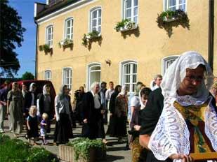 Крестный ход в Бухендорфе в Елисаветинской обители