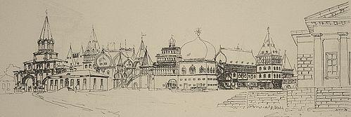 Дворец Алексея Михайловича в Коломенском.Проектное предложение воссоздания. К.Лопяло