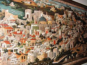 Перспективный вид Палестины с г. Иерусалимом в центре. Иерусалим, 1833 г.