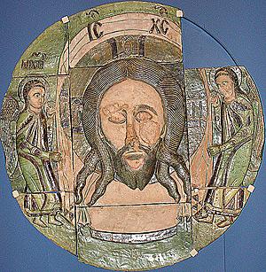 Икона «Спас Нерукотворный» из Борисоглебского собора г. Старицы. Россия, 1561 г.