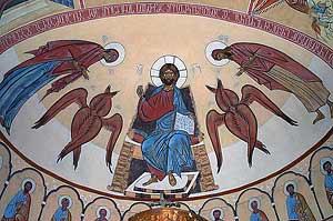 Фреска в храме святого Георгия
