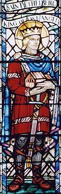 Святой Этельберт, король Восточной Англии, страстотерпец. Витраж