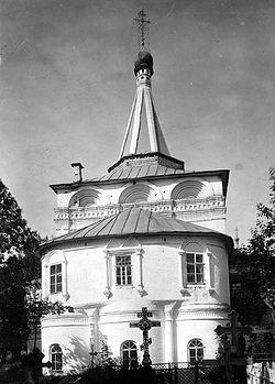 Загрузить увеличенное изображение. 387 x 540 px. Размер файла 52093 b.  Успенская церковь Нижнего Новгорода