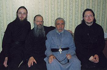 С отцами Анастасием, Антонием и Александром