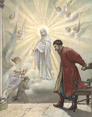 Appearance of the Mother of God to St. Joasaph's father, Andrei Gorlenko.