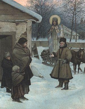 Видение бедной вдове своего благодетеля
