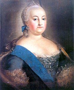 Загрузить увеличенное изображение. 495 x 600 px. Размер файла 232713 b.  Елизавета Петровна (1709 - 1761) - дочь Петра I и Екатерины I. Императрица с 25 ноября 1741 - 24 декабря 1761