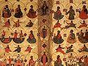 Божественная литургия в Сретенском монастыре в Неделю 30-ю по Пятидесятнице, святых отец