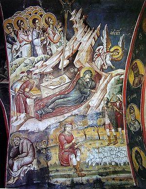 Рождество Христово. Фреска