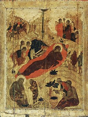 Андрей Рублев. Рождестиво Христово