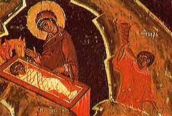 Рождество Христово.Икона. 17 век. Музей имени Андрея Рублева.