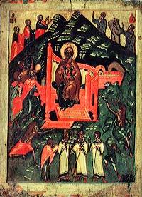 Собор Богоматери. Икона. Псков, первая половина 15 века.